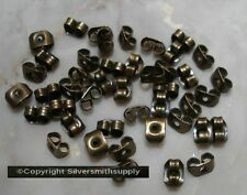 40 Bronze plated butterfly post earring backs (clutches) wire nuts 5mm fpe092