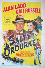 "One Sheet Poster - ""Salty O'Rourke"" - ALAN LADD - 1945 - GAIL RUSSELL"
