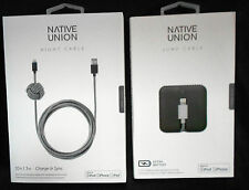 NATIVE UNION NIGHT + JUMP CABLE FOR APPLE IPHONE 6,PLUS,5S 5C,IPOD TOUCH 5TH GEN
