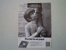 advertising Pubblicità 1974 ASSICURAZIONI SAI