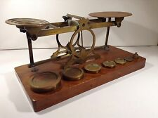 Charming Sampson Mordan Antique Letter Scales Complete with Weights