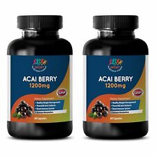 Pure Acai Berry Powder - ACAI BERRY 1200MG - US Made Antioxidant Blend - 2B 120C