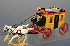 VINTAGE TIMPO MODEL No.XXX STAGE COACH WITH HORSES , DRIVER