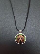 """Ours pendentif sur un 18"""" noir cord collier idéal anniversaire cadeau N101"""