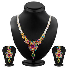 Sukkhi Delightful Gold Plated AD Necklace Set(2234NADV1330)