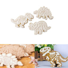 3PCS Dinosaur Fondant Cake Pastry Cookies Plunger Cutter Mold Decorating Mould