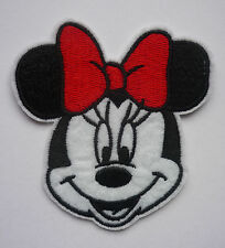 Minnie Mouse Red Bow embroidered Iron On / Sew On Patch/Applique
