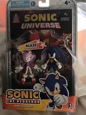 "Jazwares 3"" Sonic the Hedgehog & Blaze the Cat Action Figure Comic Book Pack NIB"