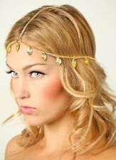 Bohemian Gold Leaf Hair Head Chain Boho Headpiece Headband Hippie Festival