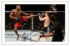 JON JONES UFC MMA SIGNED PHOTO PRINT AUTOGRAPH