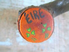 Irish Shillelagh WOOD CLUB Great old patina Short Example CANE vintage OLD stuff
