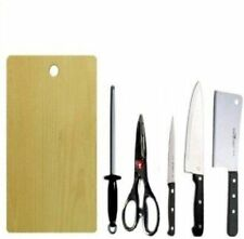 wooden chopping board with Knife set 6 pic