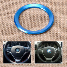 Blue Steering Wheel Center Logo Decoration Ring For BMW 1 3 5 7 Series M3 GT5 X5