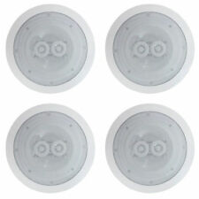 "4 x CEILING SPEAKERS 120W (60W RMS) 2-Way Easy Fit 6.5"" DUAL TWEETERS QUAD SUB"