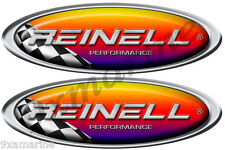 """Two Reinell racing Oval Decal Stickers - 10""""X3.5"""""""