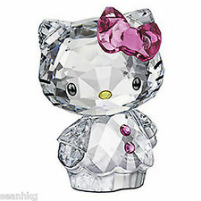 Swarovski Crystal Figurine Hello Kitty Pink Bow 2011 (MIB) - 1096877