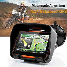 "Motorcycle Sat Nav 4.3"" 8GB Waterproof Adventure Bike GPS Navigation Bluetooth"