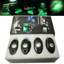 4 x Green CREE LED Rock Light JEEP Offroad Truck Boat Under Body Trail Rig Light