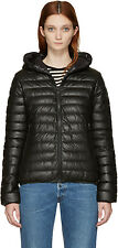 New Duvetica Black Down Messenedue Women's leather Jacket Size 40