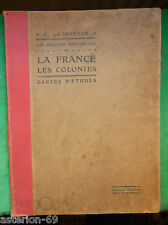 LA20 REGIONS NATURELLES FRANCE ET COLONIES CARTES D'ETUDES KAEPPELIN 1910 HATIER