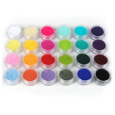 24pcs Colors Nail Art Glitter Velvet Flocking Powder for Acrylic liquid UV Gel