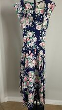 Vintage 90s COUNTRY ROMANCE Festival BOHO Garden Floral Long Dress 13/14