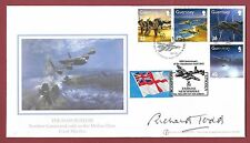 SIGNED BUCKINGHAM FIRST DAY COVER - DAMBUSTERS -  RICHARD TODD - SCAMPTON SHS.