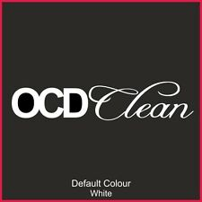 OCD Clean Decal 3, Vinyl, Sticker, Graphics,Car, Racing, Stack, Funny, N2151