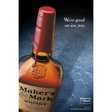 """MAKERS MARK """"HOCKEY"""" POSTER 24 BY 36 BETTER ON ICE"""