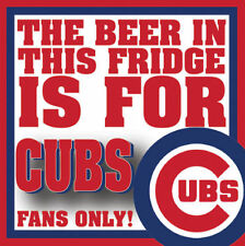 BEER CHICAGO CUBS FANS ONLY REFRIGERATOR SCHOOL LOCKER TOOL BOX MAGNET CHRISTMAS