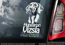 Vizsla - Car Window Sticker - Hungarian Vizsla Magyar Dog on Board Sign Art TYP1