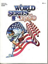 1980 World Series program baseball Philadelphia Phillies v Kansas City Royals NM