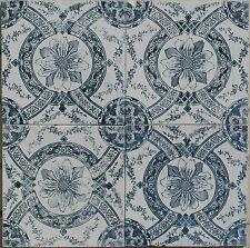 Vintage Portuguese 4 -Tile Set -  Sec XIX/XX - English Victorian Ceramic tile