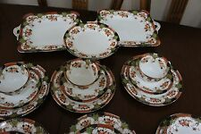 Vtg 24 Royal Stafford Bone China Tea Cup Saucer Plate 2 unique cake plate Imari
