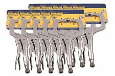 "IRWIN Vise Grip 11R 11"" C-Clamp Locking Regular Tip Easy  Pliers 10 PACK"