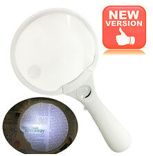 Ultra Bright LED Magnifying Glass Reading Magnifier with 3X 4.5X 25X