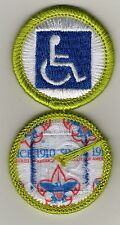 """Disability Awareness Merit Badge, Type L, """"Since 1910"""" Back (2012-Current)"""