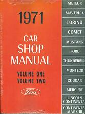 1971  MUSTANG/GT/MACH 1/FAIRLANE SHOP MANUAL
