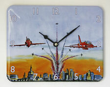 BRAND NEW RED ARROWS WALL CLOCK 12 HOUR DISPLAY