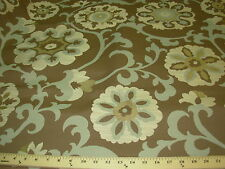 """~BTY~""""SUZANI""""~BEAUTIFUL LIGHT EMBROIDERED UPHOLSTERY FABRIC~FABRIC FOR LESS~"""