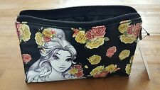 NEW DISNEY BEAUTY AND THE BEAST BELLE TATTOO MAKEUP BAG CLUTCH PENCIL POUCH