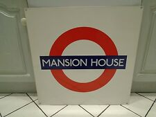 Mansion House Genuine London Underground station sign, Roundel 26.5""