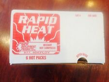 Instant Hot Disposable Compress, Rapid Heat, Rapid Deployment Products, 6 Count
