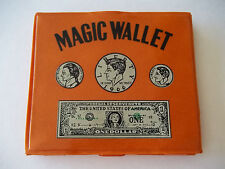 Vintage Magic Wallet 60's era Vinyl Plastic Hong Kong