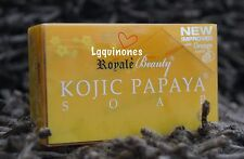 New Improved Royale Beauty KOJIC PAPAYA SOAP with Orange Scent Multibuy 5 Bars!!