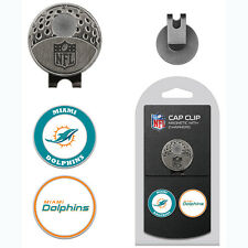 Miami Dolphins NFL Team Golf Cap Clip with 2 Magnetic Enamel Ball Markers