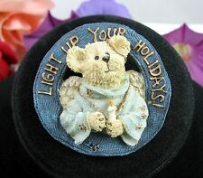 LIGHT UP YOUR HOLIDAYS Boyds Bears Brooch Vintage Pin Angel Teddybear Teddy