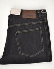 SALE $595 Brioni Denim Jeans Stelvio Cotton T400E ME 30 46 Black 03JN0209