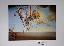 SALVADOR DALI HAND SIGNED * THE TEMPTATION OF SAINT ANTHONY *  COLORPLATE W/ COA
