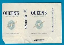 Old EMPTY cigarette packet Queens Denmark + Tax stamp, see 2 scans. style 1.#477